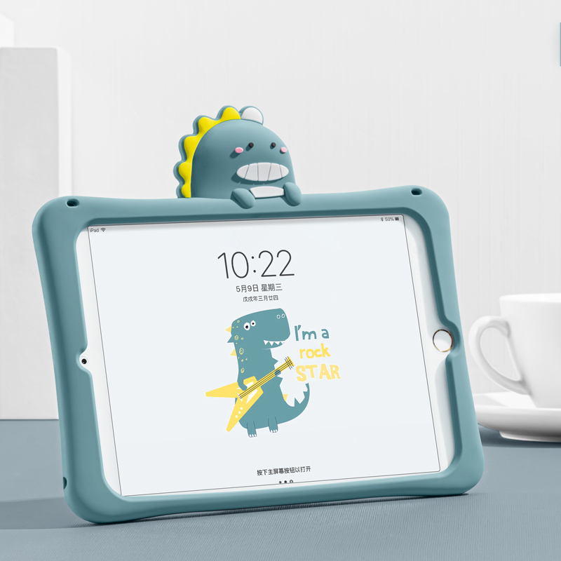 Apple New ipad air2 보호 커버 10.2 실리콘 Mini5 4 태블릿 3 Cute PRO10.5 Shell 1, 작은 공룡
