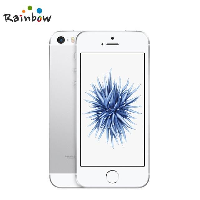원래 잠금 해제 애플 아이폰 SE 지문 듀얼 코어 4G LTE 스마트 폰 봉인 2GB RAM 16/64GB ROM 터치 ID 휴대, 01 White, 01 16GB A1662