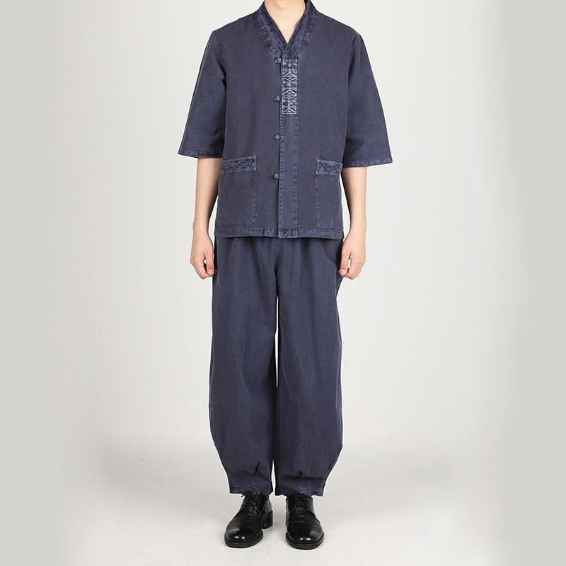 리예 30수 자수문양 적삼 바지 생활한복(개량한복) (POP 1743333133)