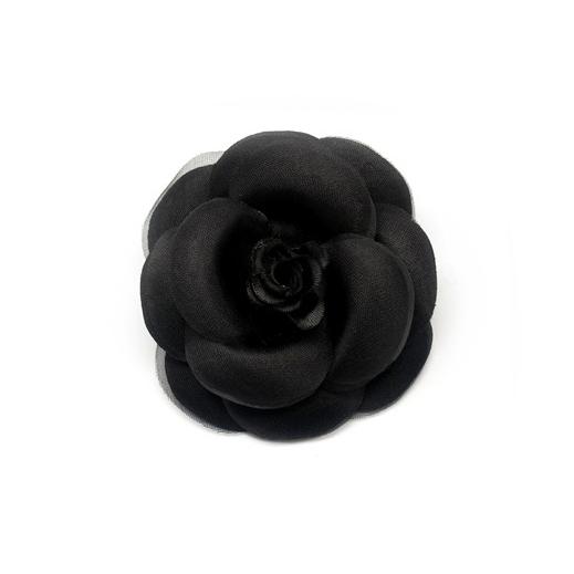 라라라 408 장미 코사지 브로치, 검정색