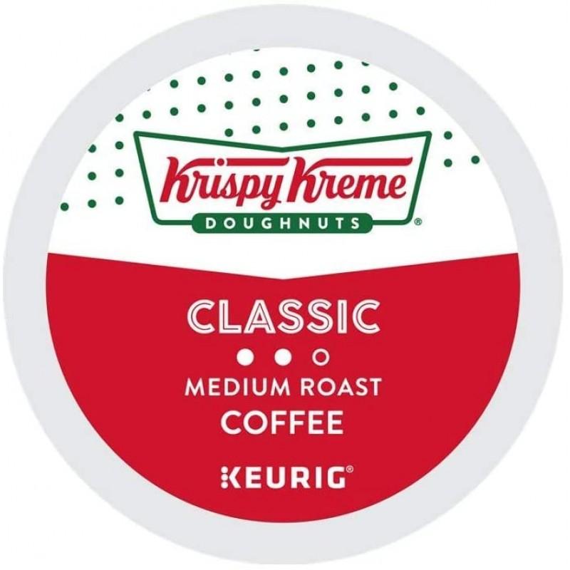 커피머신 캡슐 Krispy Kreme Donuts Coffee 큐 리그 브루어를위한 클래식 싱글 서브 K 컵 포드 24 개, 1