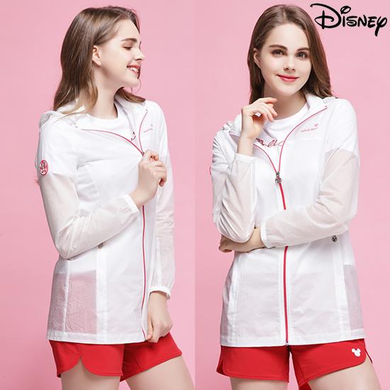 [디즈니] 여성 트래블 바람막이 자켓, 화이트
