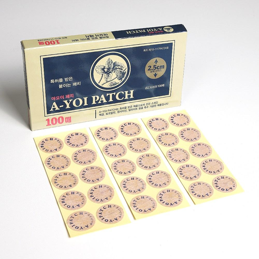 아요이패치 동전패치 동전파스100매 백금함유, 1box, 100개