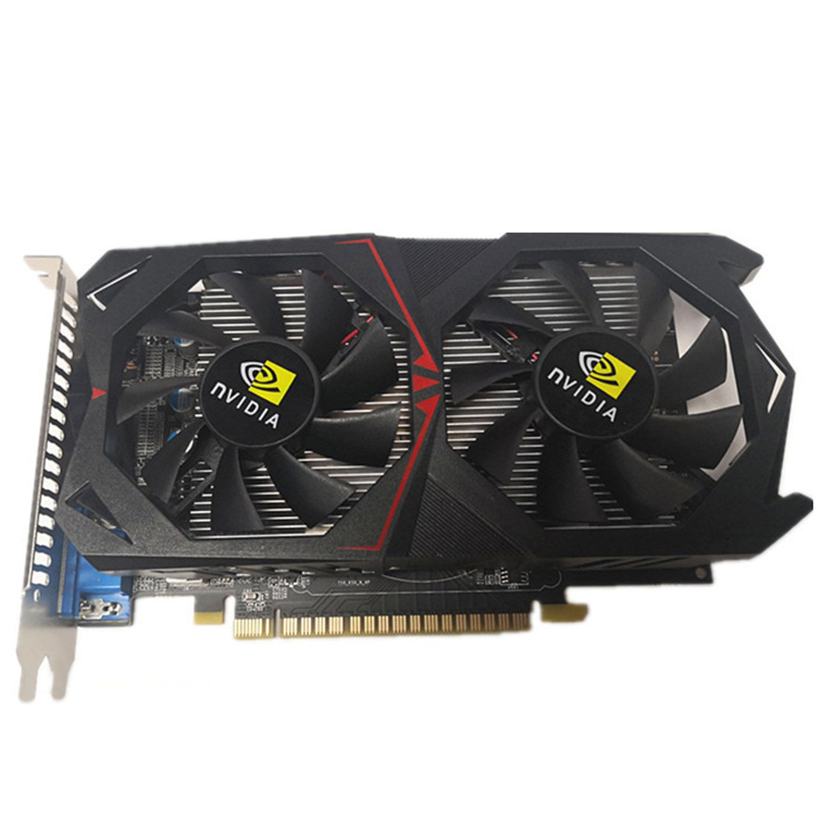 OEM GTX1050TI 그래픽 카드 독립적인 저온 작동 온도 DDR5 4GB 데스크톱용 게임 비디오 그래픽 카드, Black