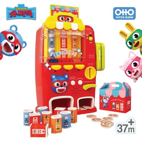 꼬마히어로 슈퍼잭 냠냠파워 멜로디 불빛 장난감 자판기