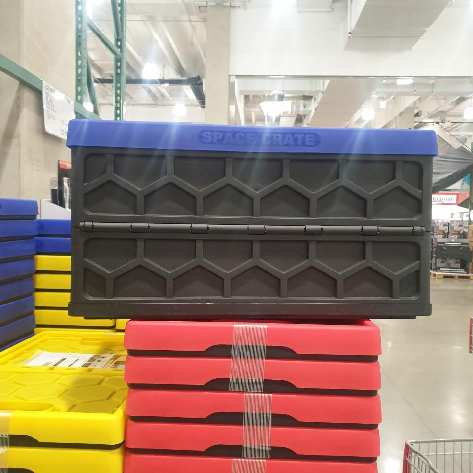 코스트코 접이식 수납박스 상자 46리터 2개, 2팩, 빨강