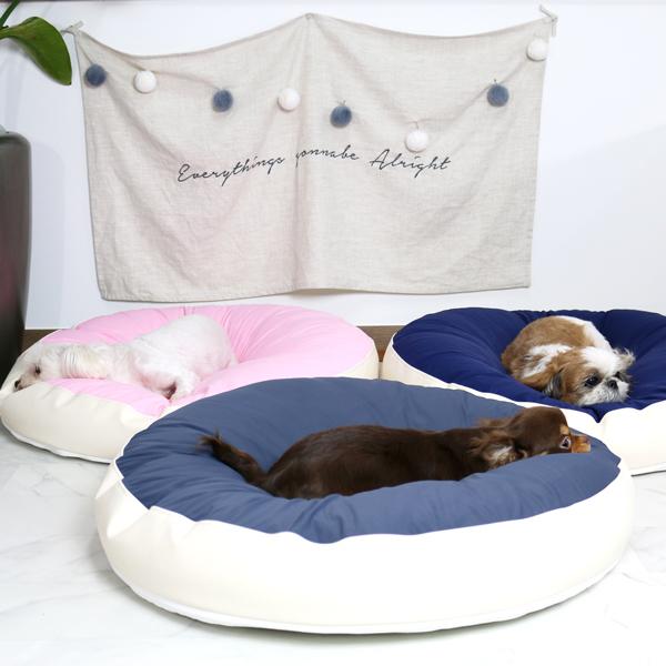 초코펫하우스 극강의 편안함 강아지 무중력 우주 방석 미세먼지 진드기 완벽차단 애견 쿠션 침대, 무중력 우주 방석 네이비