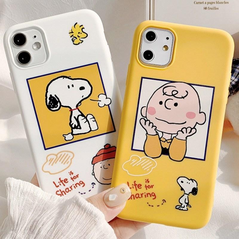 [핫티몰] 스누피 찰리 휴대폰케이스 아이폰 7 XS XR 아이폰11