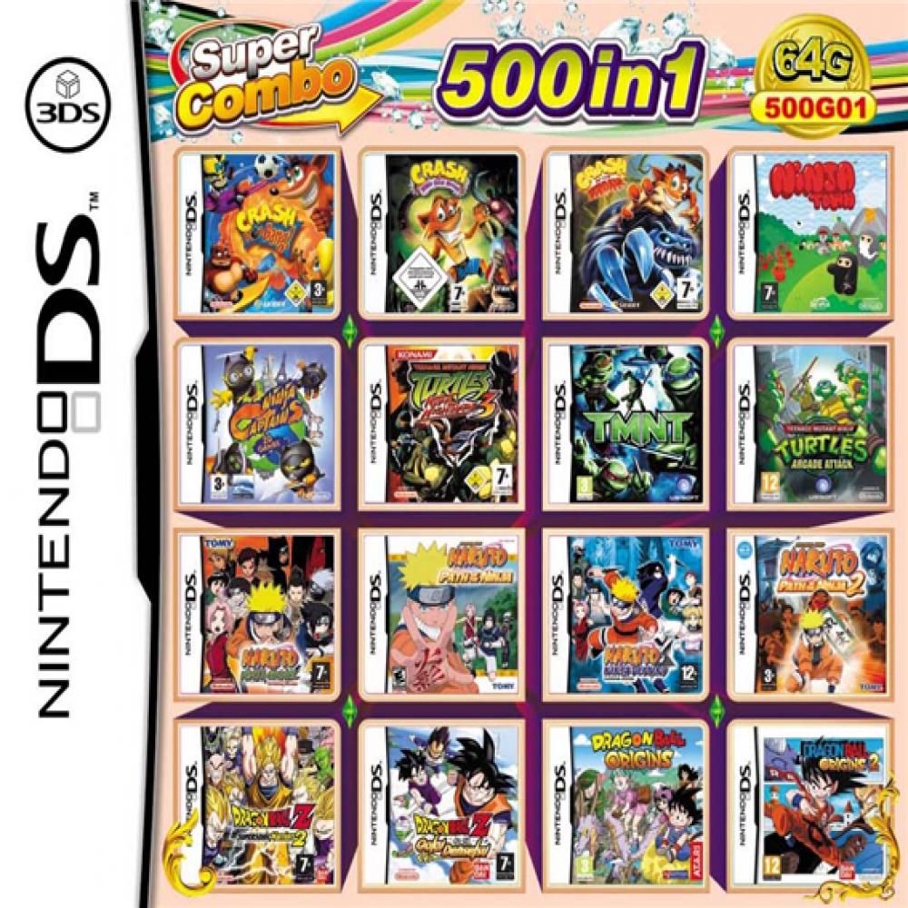 닌텐도DS 2DS 3DS 2dsxl 3dsxl 호환 500가지합팩, 500합팩