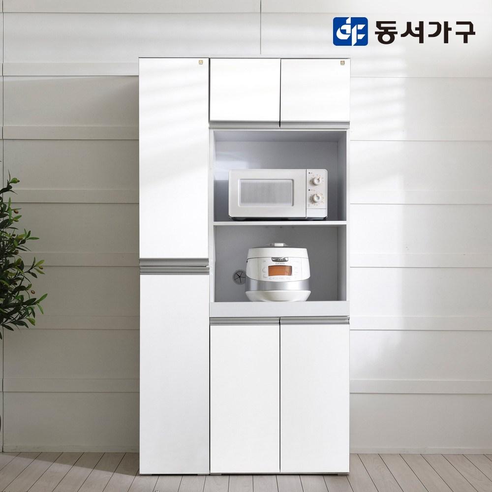 동서가구 쉐프 LPM 렌지대 + 틈새장 세트, 화이트