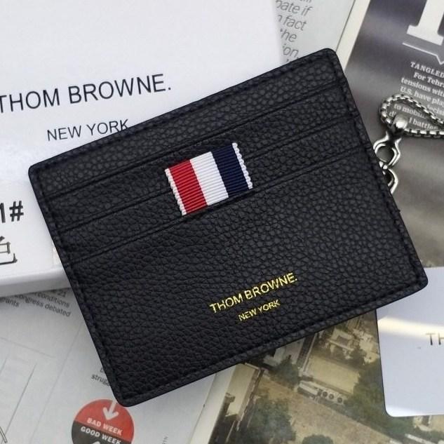 브라운 톰 삼선카드지갑 블랙