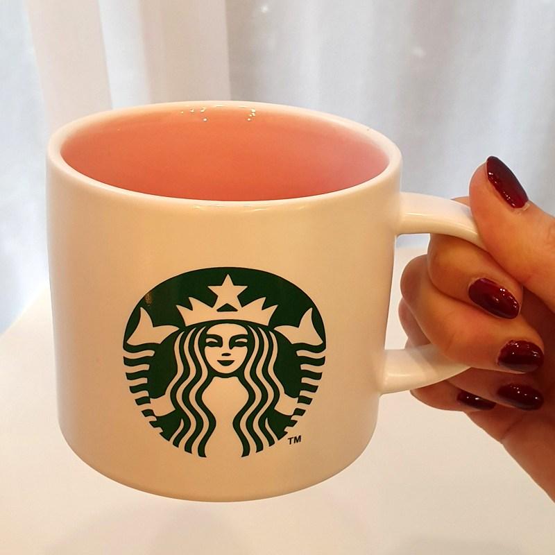 스타벅스 세라믹 사이렌 머그컵, 1개, 세라믹 사이렌 핑크