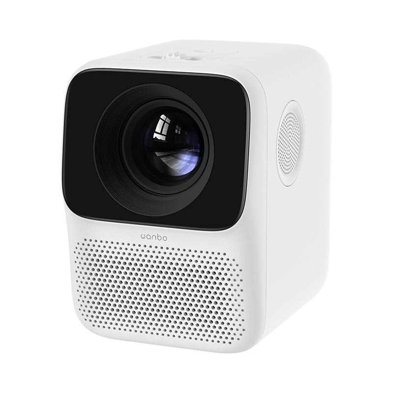 샤오미 Wanbo 미니 빔프로젝터 T2 프리 캠핑용 가정용 휴대용 홈시어터, 하얀_공식 표준