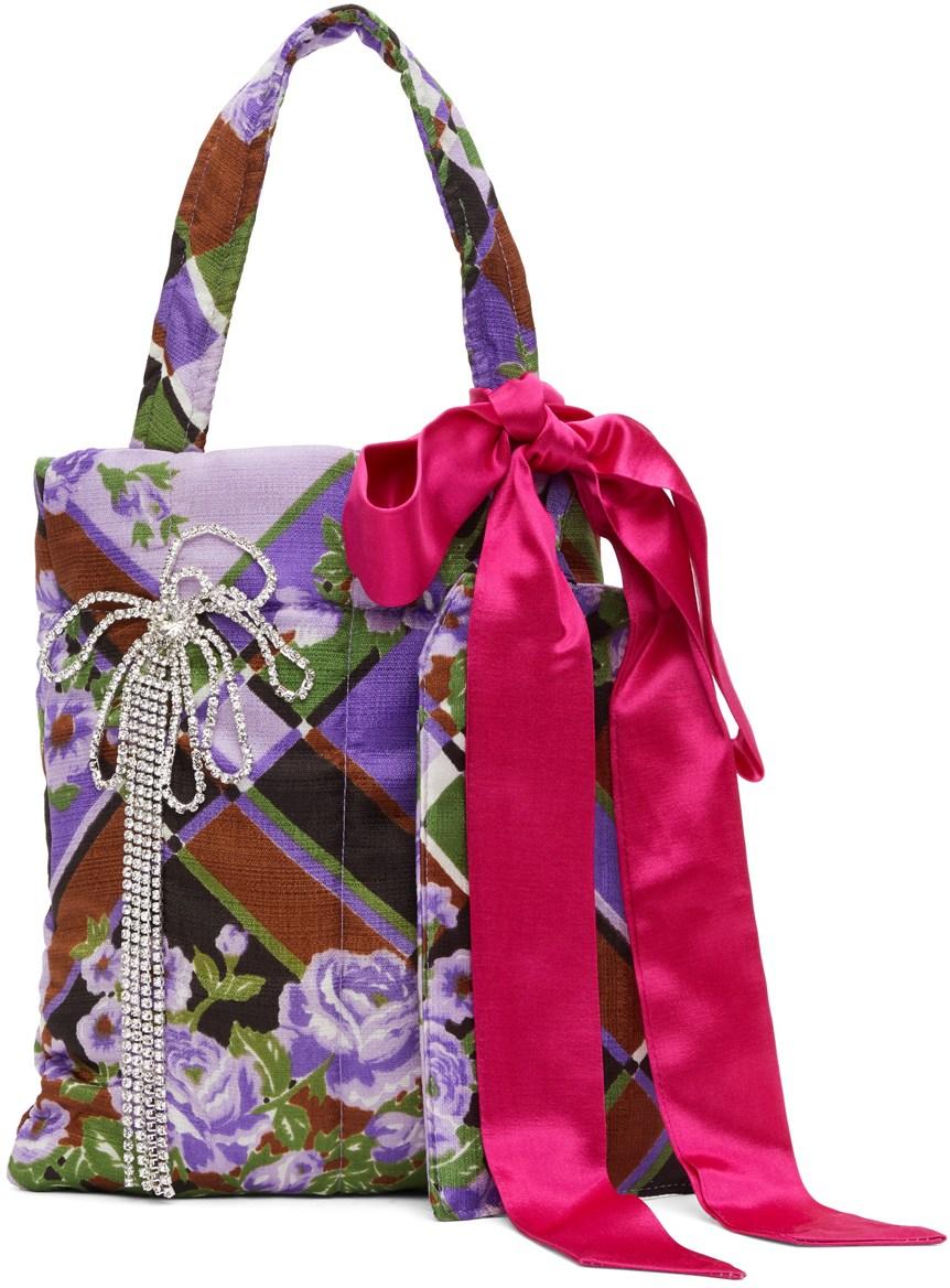 SSENSE Exclusive Purple & Green Mémé Bag-SC5765131