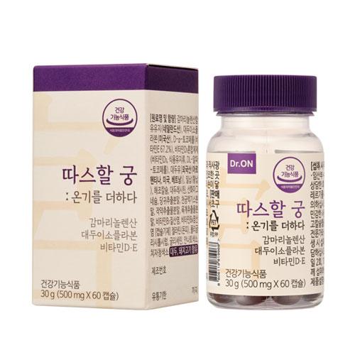 [닥터오앤] 따스할궁 1개월 한의사개발 감마리놀렌산 비타민D E 여성영양제, 1박스, 90g