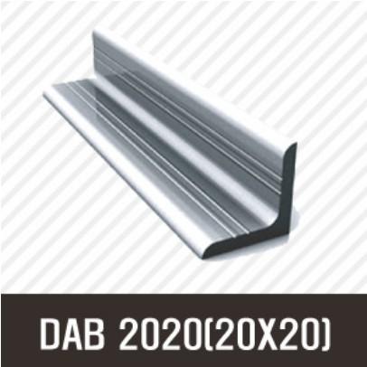 앵글 DAB 2020(20X20) 50mm/ 100mm/ 200mm/ 500mm/ 1000mm/ 1500mm/ 2000mm/앵글/프로파일 부품/ 프로파일/ 알미늄/ 대영, DF2020-200mm