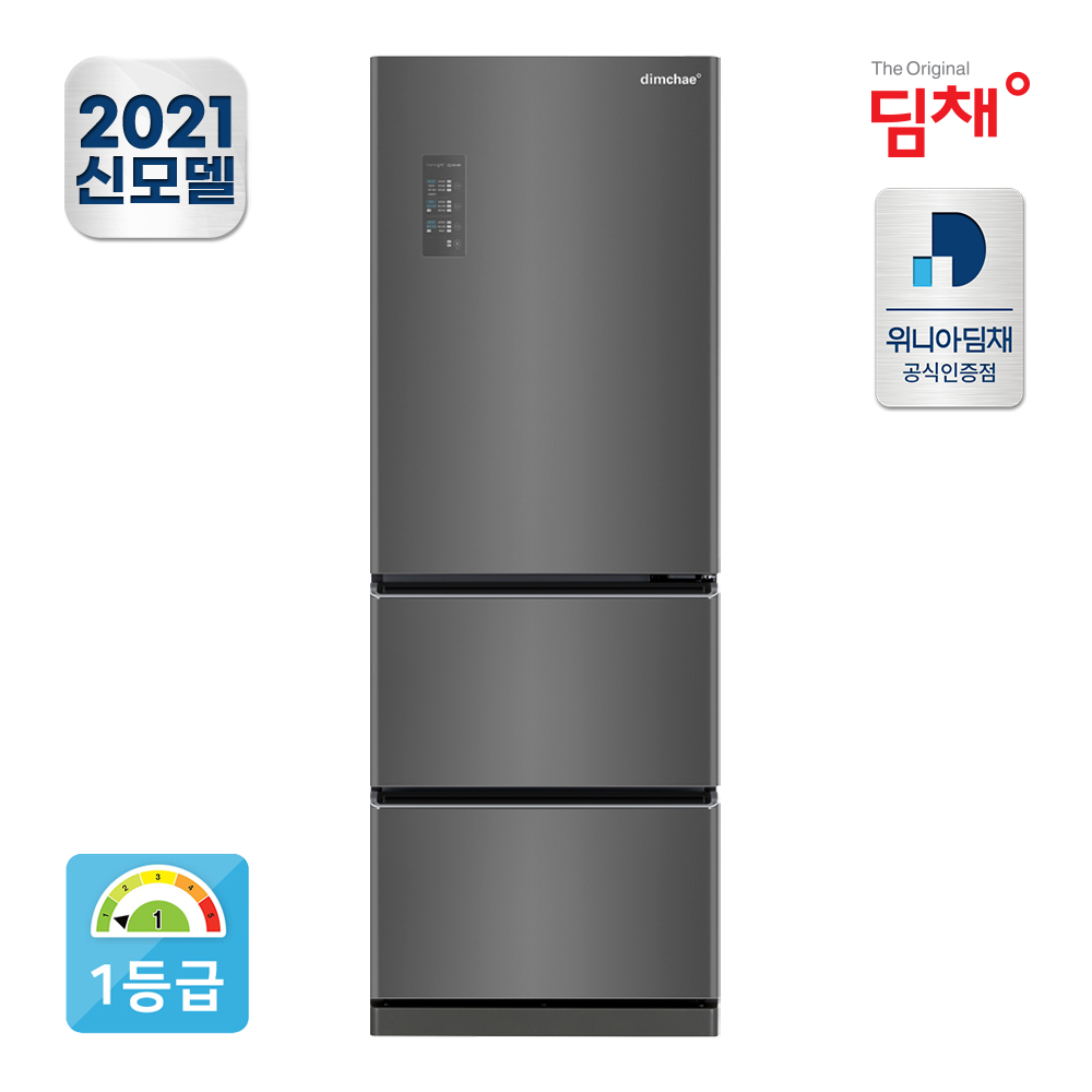 21년형 1등급 딤채 스탠드 김치냉장고 EDT33EFRZD 330L 공식판매점