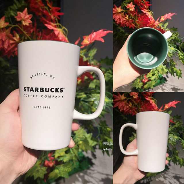 Starbucks 스타벅스 클래식 시애틀 헤리티지 세라믹 머그잔 355ml, 1개, 화이트