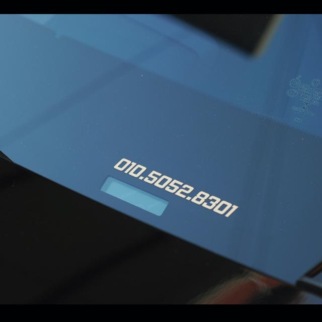 심플한 번호만있는 전화번호스티커 주차번호, 13cm각진체(검정)