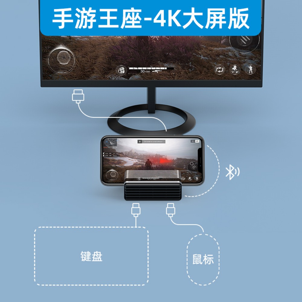 모바일 배그 미러링 키보드 마우스 모니터 연결 동글이 아이폰 안드로이드, 개, 키보드+마우스+모니터
