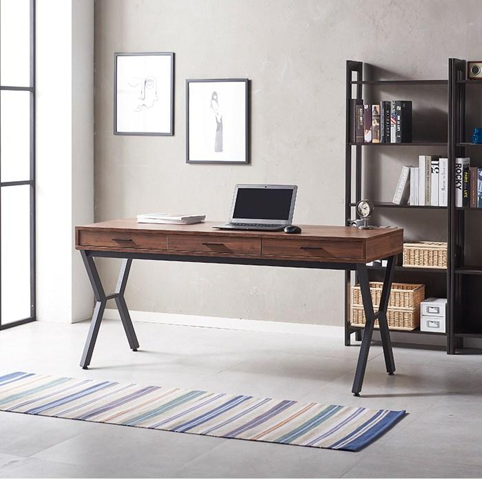 [리코디자인] 루이스 수납형 1600 책상, 멀바우