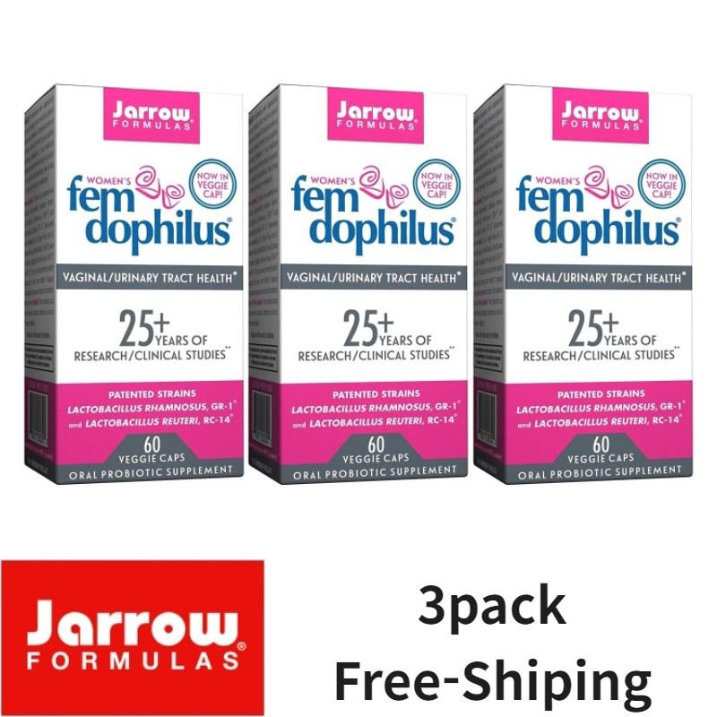 Jarrow Fomulas 자로우 펨 도피러스 여성 유산균 50억 냉장 보관 60야채캡슐, 3개, 60개입