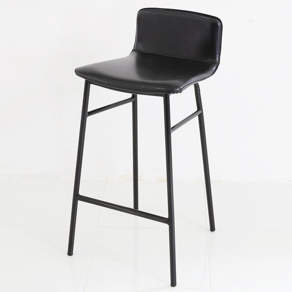 THEJOA 지니바체어 높은 빠텐 아일랜드 식탁의자 홈바의자, 지니바체어-블랙
