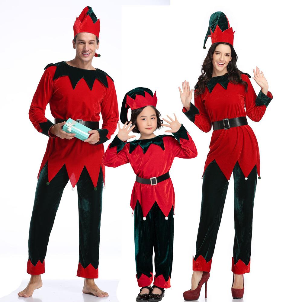 HongKongLantian 크리스마스 의상 서커스 어릿광대 분장 코스프레 분체세트 친자무대 산타노인복