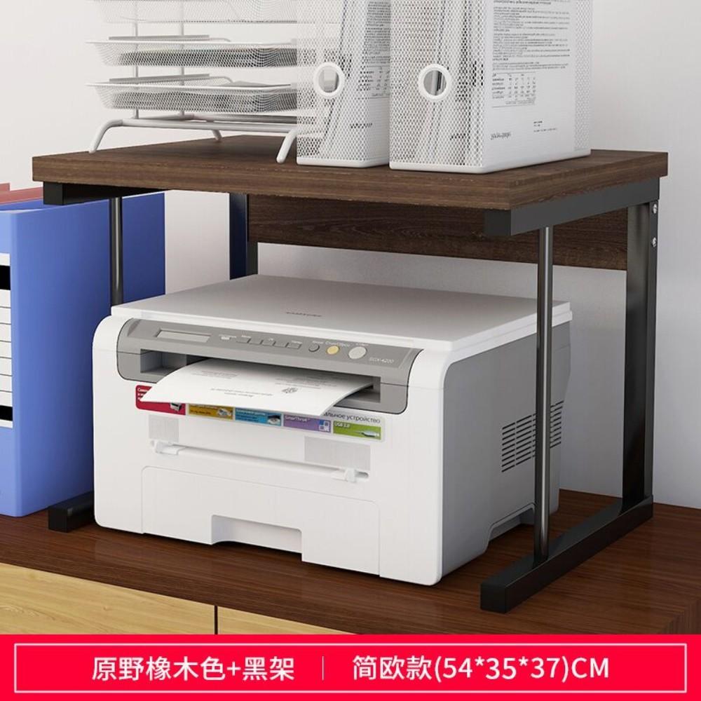 프린트선반 프린터거치대 프린터랙 데스크테리어 프린트받침대 오피스용품, 오크/일자형프레임