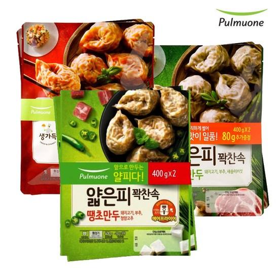 [K쇼핑][풀무원] 얇은피꽉찬속 김치2봉+고기2봉+땡초2봉, 단일상품