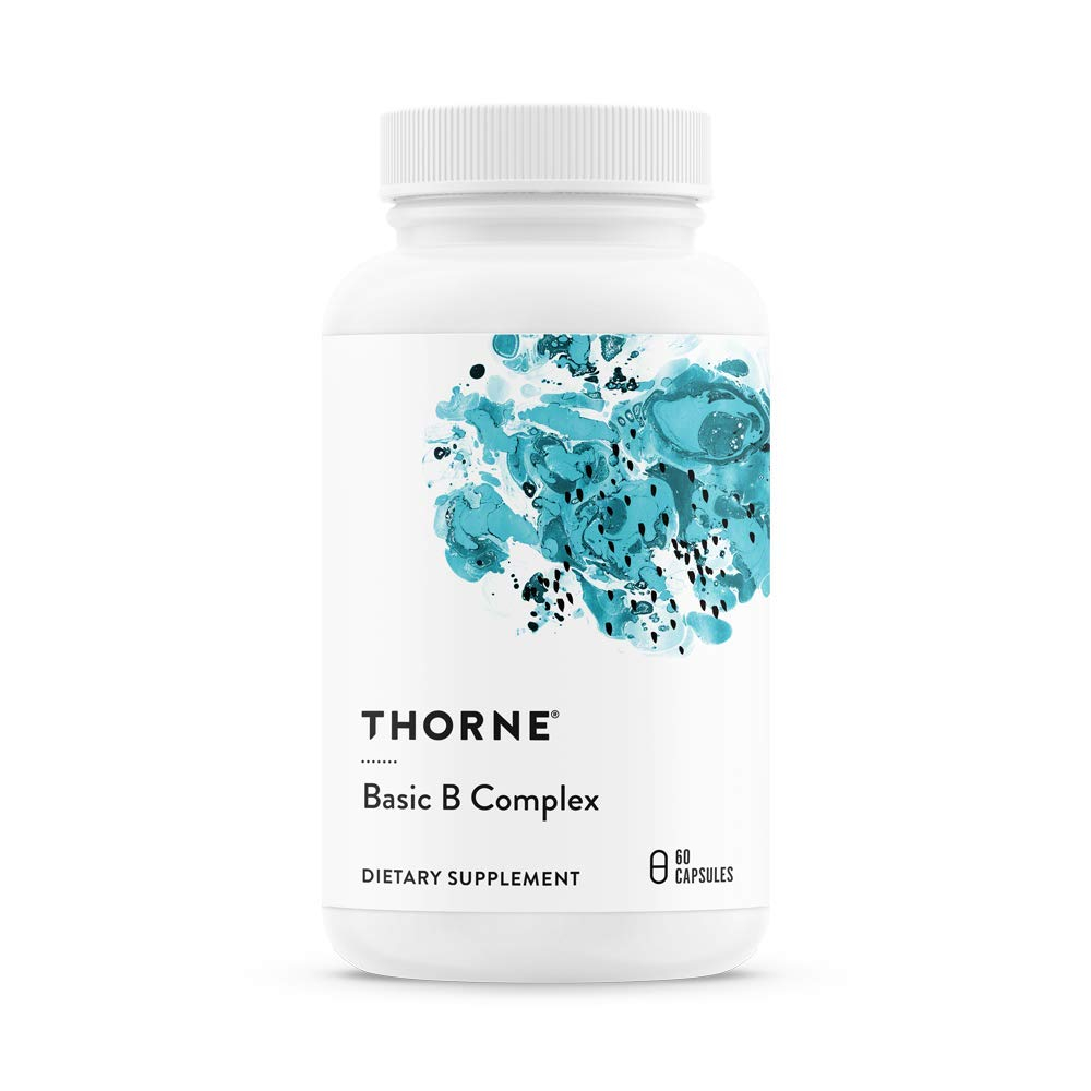 Thorne Research - Basic B Complex Vitamins in Their Active Forms 60 Capsules, 1개