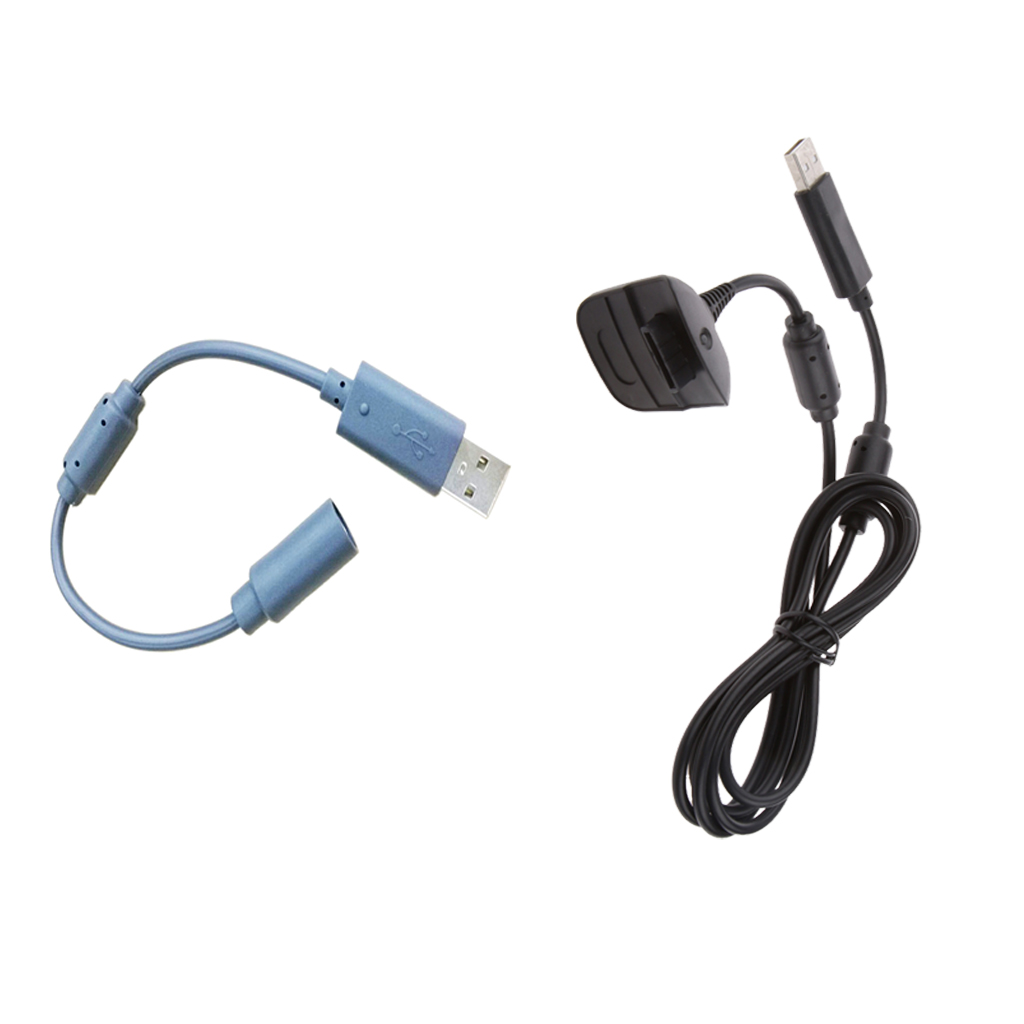 STK23cm 분리형 USB 케이블 + Xbox 360 PC 게임용 USB 충전 어댑터 케이블, 단일상품