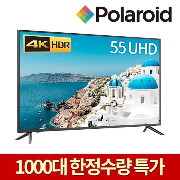 라온하우스 [폴라로이드] 프리미엄 55인치 스탠드형 텔레비전 tv/티브이/UHD 4k LED TV/울트라HD/기사무료설치, 스탠드 431550, 기사무료설치
