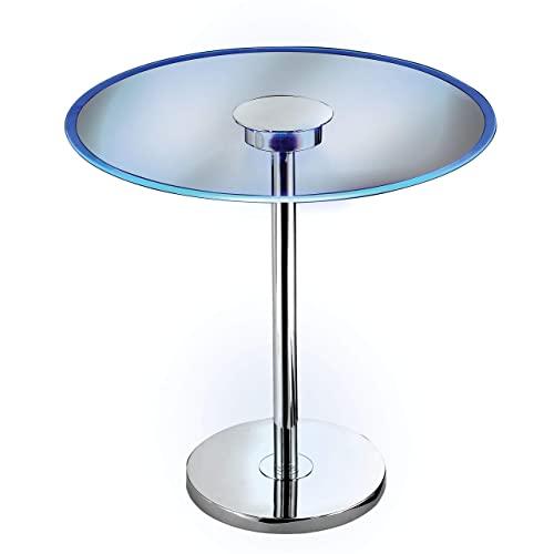 32176GCH 스펙트럼 악센트 20 인치 DIA. × 20 인치의 높이 색상 변경 LED 크롬 마무리 유리 테이블, 본상품 (POP 5464216405)