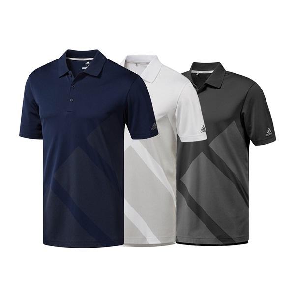 아디다스골프 3스트라이프 프린트 남성용 티셔츠 CY2161/CZ8217/DW4526, XL