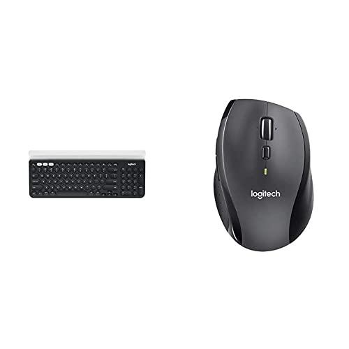 NMT 로지텍 K780 컴퓨터 전화 및 태블릿 용 다중 장치 무선 키보 [Keyboard + M705 Mouse- White Version] - P0026083C4CP1Y3, Keyboard + M705 Mouse- White Version, Keyboard + M705 Mouse- White Version