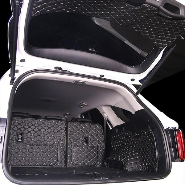 SWCAR 쏘렌토 MQ4 트렁크매트 가죽 카매트 사이드커버 트렁크커버 메트, 쏘렌토MQ4-7인승풀세트, 기아