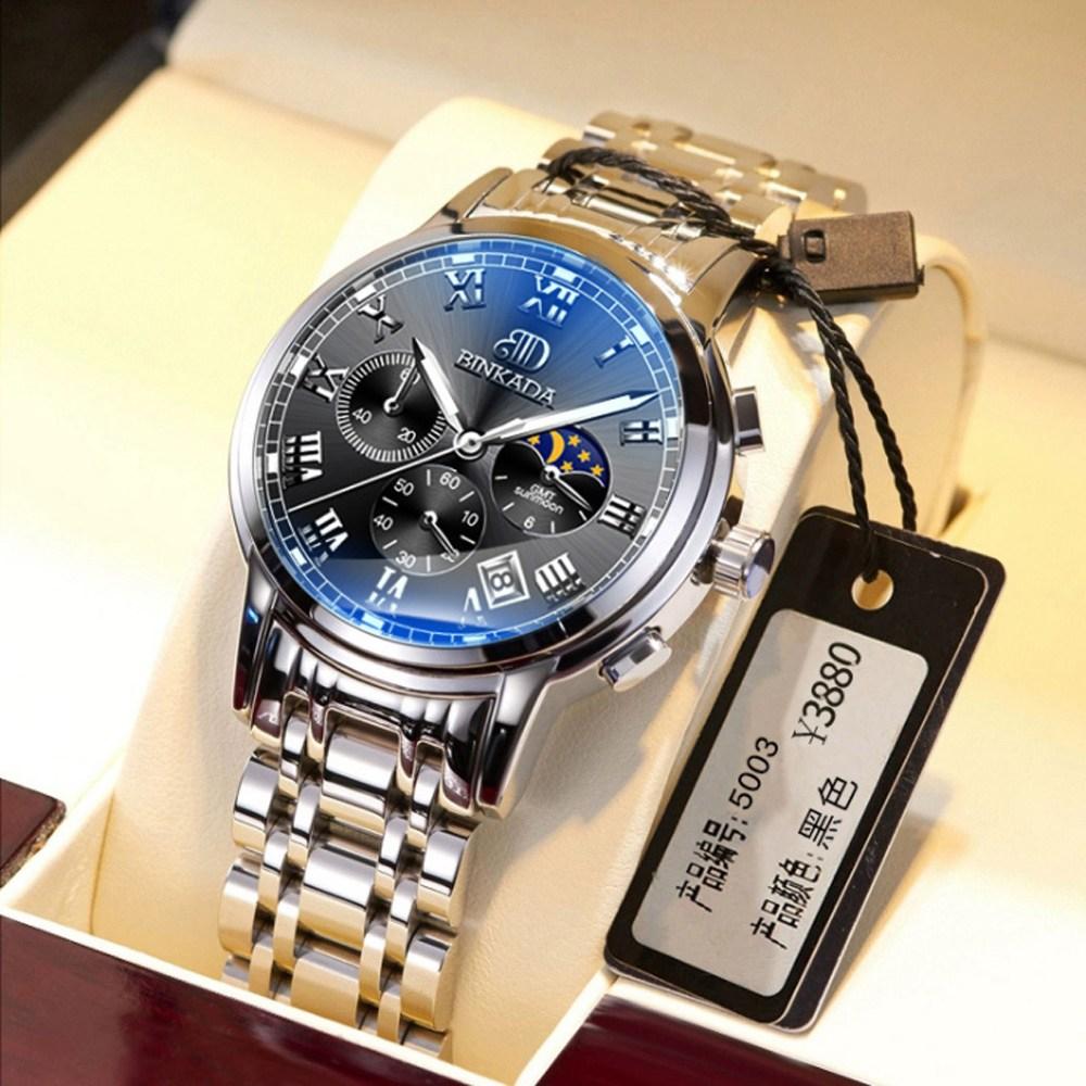 BINKADA 남자메탈시계 남성메탈시계 메탈손목시계 남자 명품시계 메탈시계
