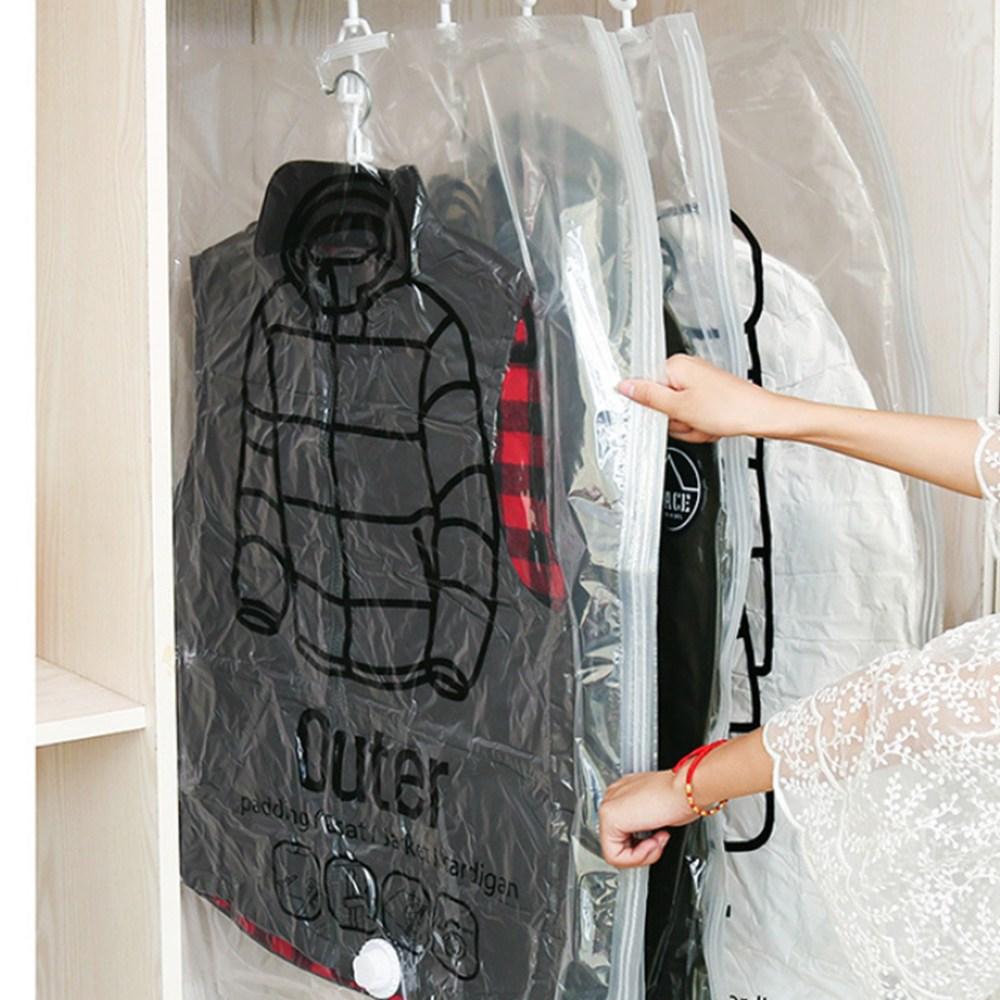 홈데코레 옷걸이형 의류 압축팩 중형 67cm x 90cm, 5개, 1매입