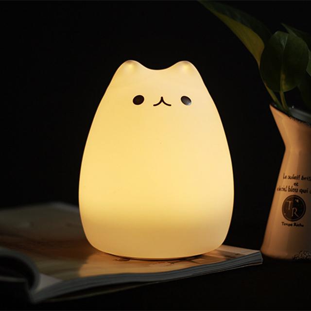 모던홀릭 LED 실리콘 고양이 무드등 수유등 수면등, B타입