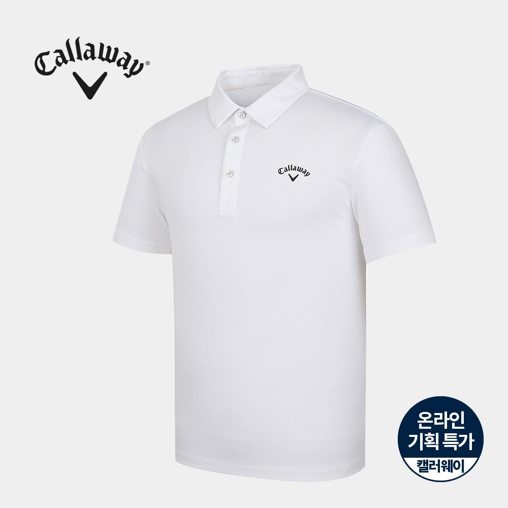[캘러웨이]기획 남성 기본 카라 반팔 티셔츠 CMTYJ2756-100_G