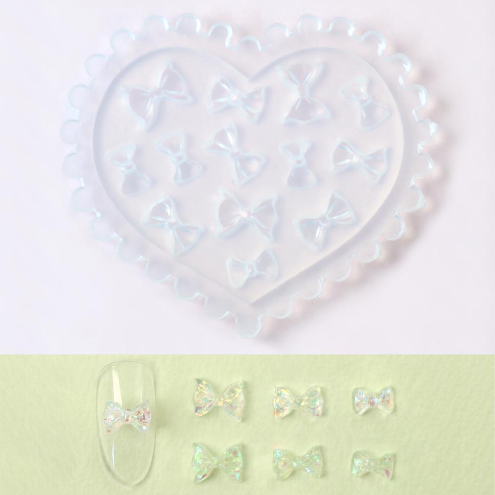 네일스케치 3D 하트 네일몰드 레진 공예 아트 재료 셀프 파츠, 1개, M.49 리본