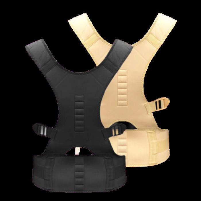 해피쇼핑 일상공감 허리아플때 바른핏밴드 거북목 말린어깨 굽은등펴기 자세교정기구 일자허리교정, 1개