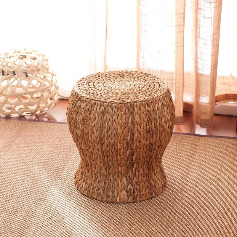라탄의자 미니 원형라탄의자 라탄스툴 밀짚 등나무 인테리어의자, 선택4