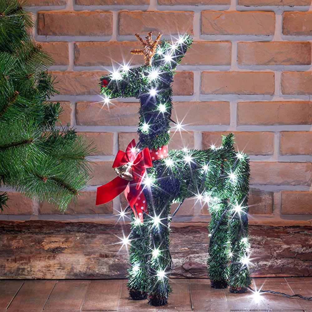 크리스마스 사슴 트리 모형 장식 LED 세트 50cm 루돌프 조형물