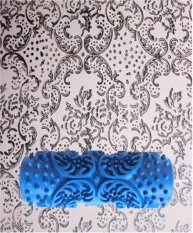롤러 뉴 5inch액체 벽지 널링가공한 몰드 액체 프린팅 드럼 벽페인트칠 플라워무늬 090Y