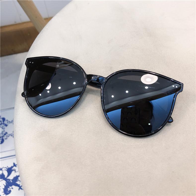 [041504]선글라스 여성 스트리트 패션 라운딩 원형 페이스 자외선 차단 편광경 선글라스