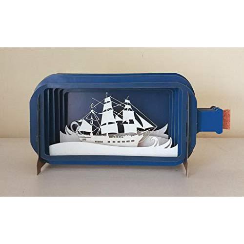 세일링 인 보틀 3D 입체 팝업카드 Message in a Bottle Sailing Pop-Up Card MIB008, 본문참고