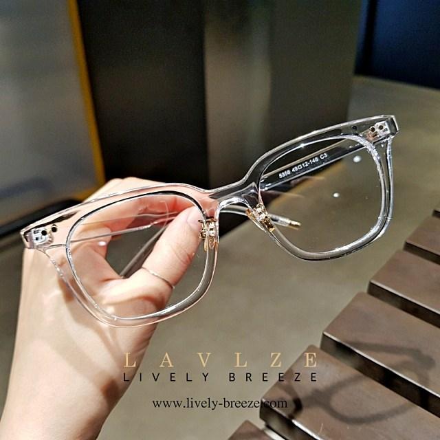 라이블리 브리즈 남자 여자 투명안경 브라운 투명 안경테