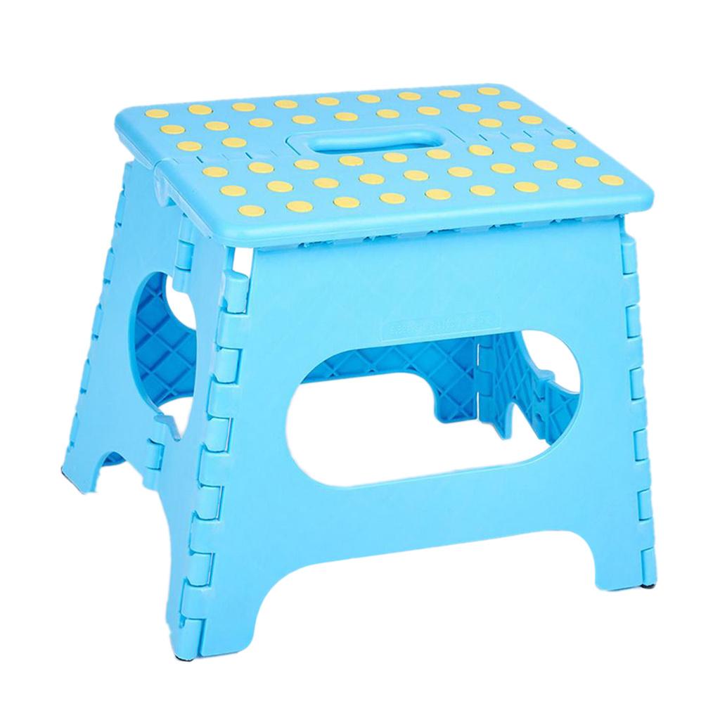 shangren 접이식 의자 안전 발판 작업 스탠드 캐리 핸들, 설명, 블루